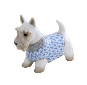 Herend Porcelain Fishnet Figurine of a West Highland Terrier (White)
